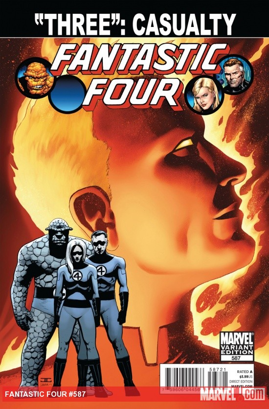 Fantastic Four #587 variant cover by John Cassaday