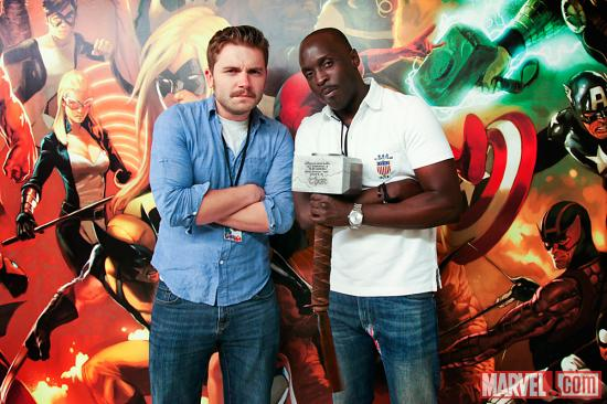 Actor Michael K. Williams with Marvel Associate Producer Blake Garris