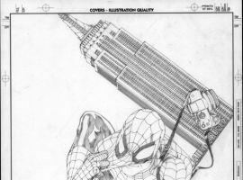 Amazing Spider-Man #546 Sketch Variant Cover