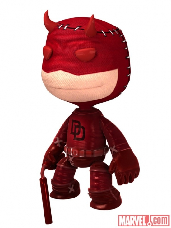 Daredevil costume in LittleBigPlanet
