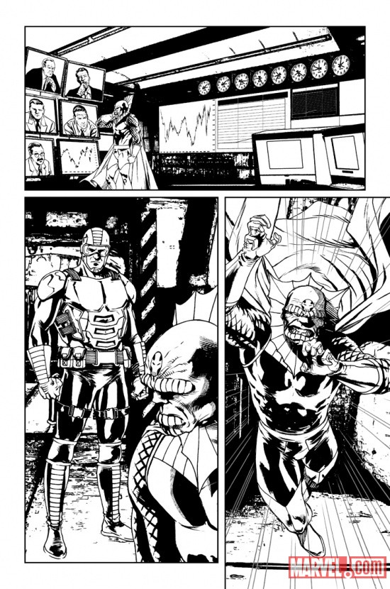Villains for Hire #0.1 preview inks by Renato Arlem