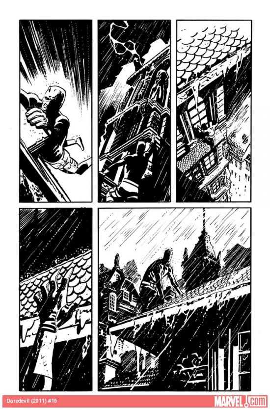 Daredevil (2011) #15 preview inks by Chris Samnee