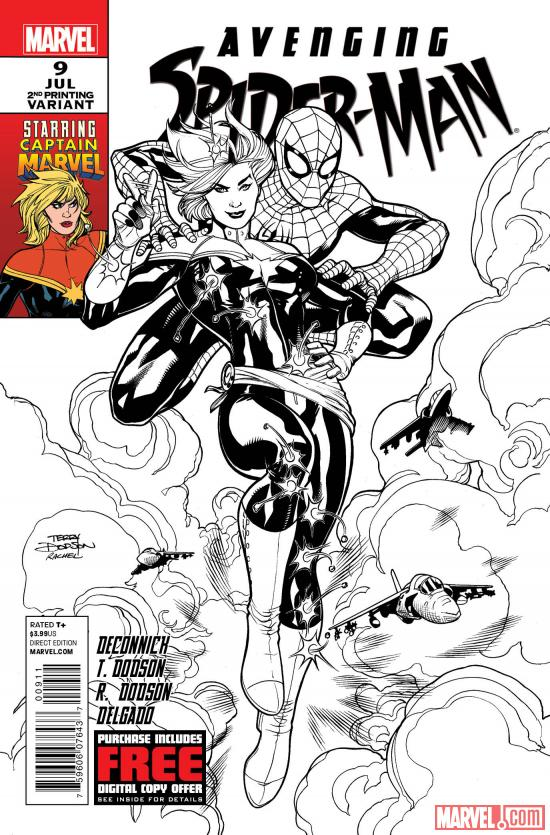 Avenging Spider-Man #9 second printing variant cover by Terry Dodson