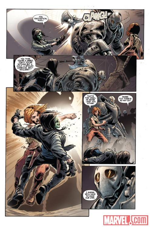 IRON MAN NOIR #4 preview art by Manuel Garcia