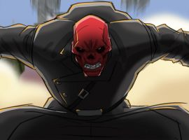 The Red Skull enters the fray in a color storyboard from Marvel's Avengers Assemble