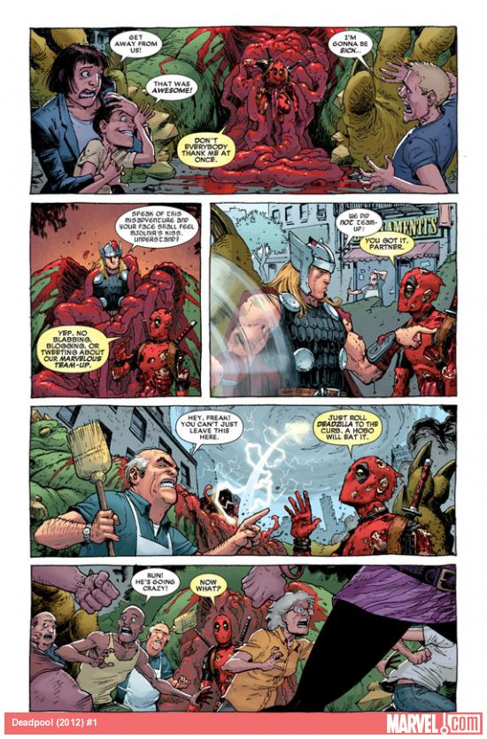 Deadpool (2012) #1 preview art by Tony Moore