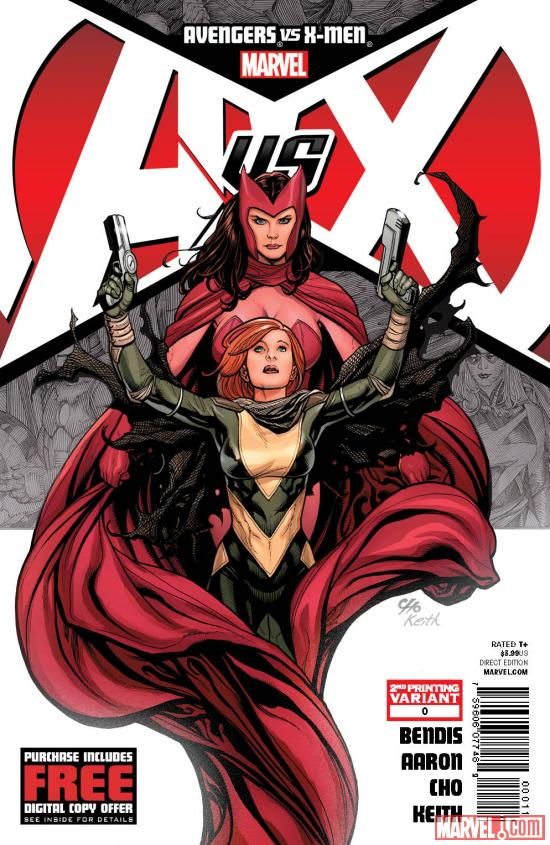 Avengers vs. X-Men #0 second printing variant cover by Frank Cho
