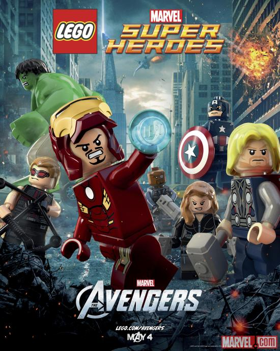 Marvel's The Avengers LEGO Poster
