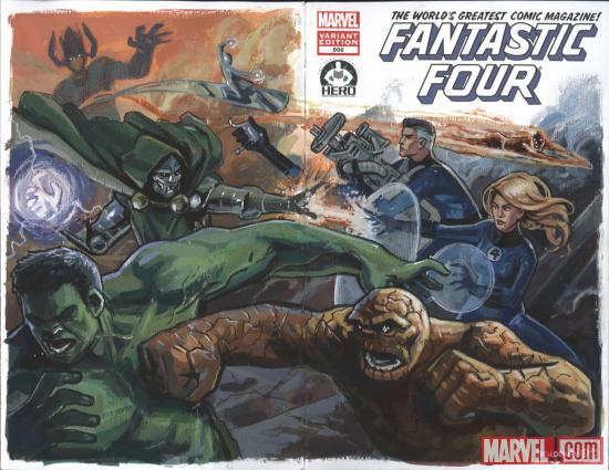 Fantastic Four #600 Hero Initiative variant cover by Ben Dewey