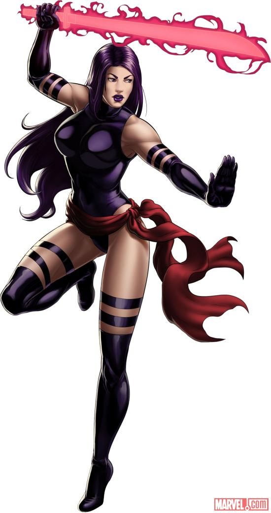 Psylocke character model from Marvel: Avengers Alliance