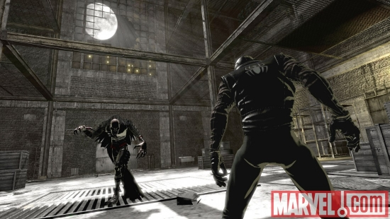 Spider-Man Noir vs. the Vulture from the Noir universe in