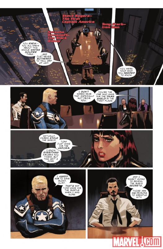 Image Featuring Black Widow, Captain America, Hawkeye