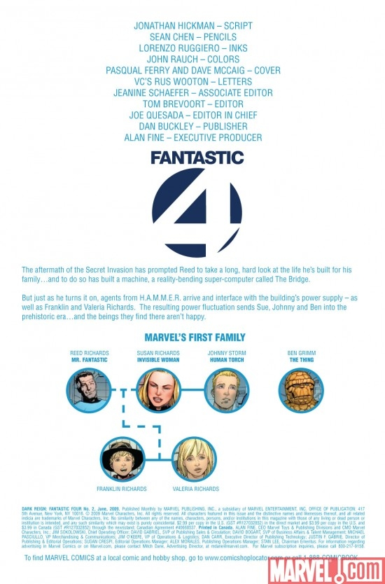 DARK REIGN: FANTASTIC FOUR #2 preview page 1