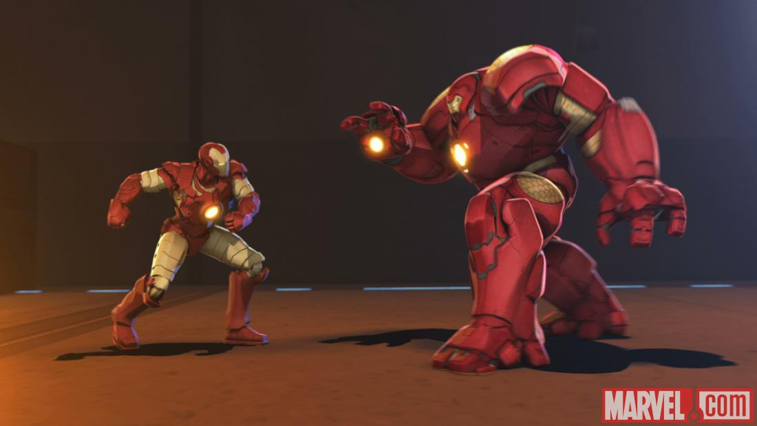 Iron Man faces his own Hulkbuster armor in Marvel's Iron Man &amp; Hulk: Heroes United
