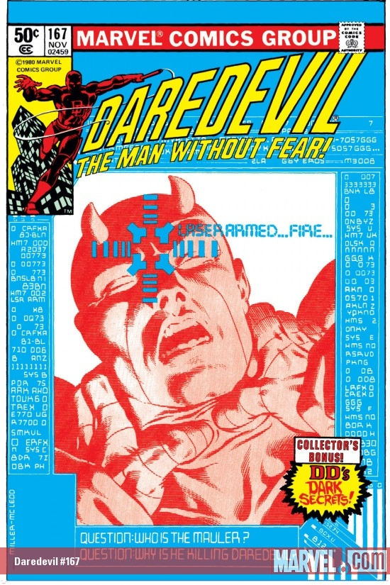 DAREDEVIL #167 COVER