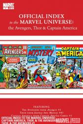 Avengers, Thor &amp; Captain America: Official Index to the Marvel Universe #1 
