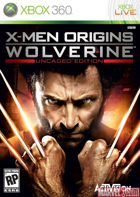 X-Men Origins: Wolverine Xbox 360 Box Art