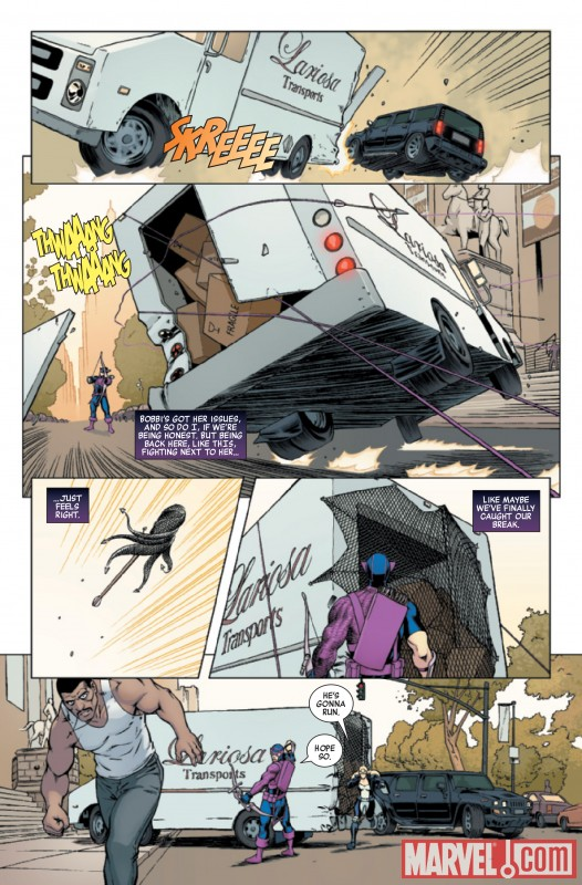 HAWKEYE &amp; MOCKINGBIRD #1 preview art by David Lopez and Alvaro Lopez Ortiz De Urbina