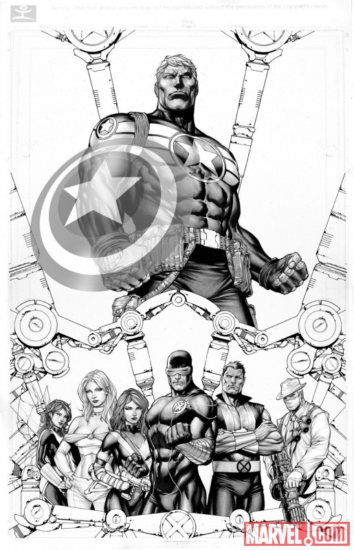 Image Featuring X-Men, Sub-Mariner, Hope Summers, Captain America, Cyclops