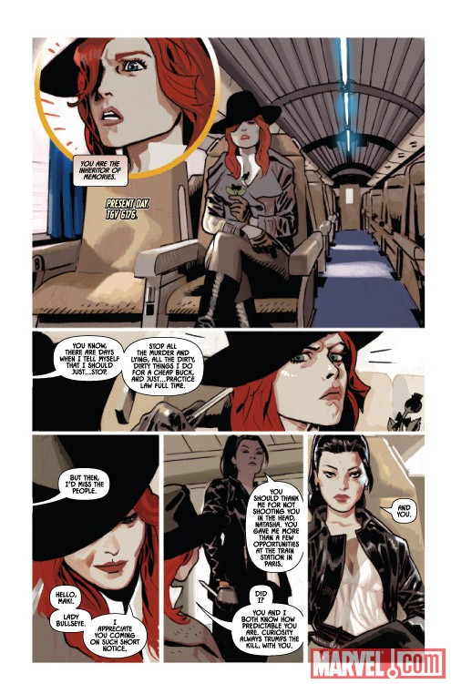 BLACK WIDOW #4 preview art by Daniel Acuna