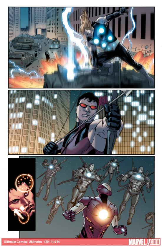 Ultimate Comics Ultimates #14 preview art by Billy Tan