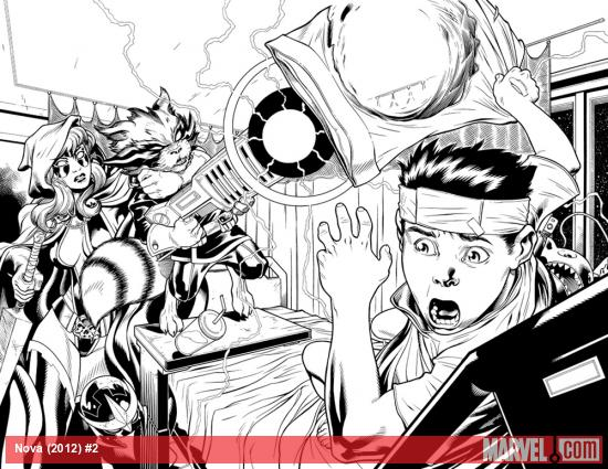 Nova (2013) #2 preview inks by Ed McGuinness