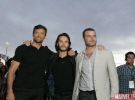 Hugh Jackman, Taylor Kitsch and Liev Schreiber at the ''X-Men Origins: Wolverine'' movie premiere in Tempe, Ariz.