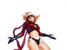Ms. Marvel's original costume