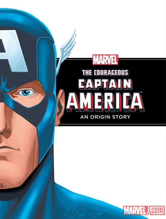 The Courageous Captain America: An Origin Story cover