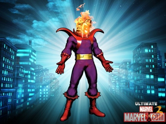 Alternate Dormammu skin from the Viewtiful Strange DLC pack for Ultimate Marvel vs. Capcom 3