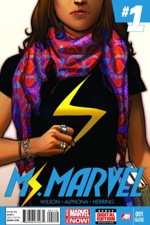 Ms. Marvel (2014) #1 second printing variant cover by Sara Pichelli