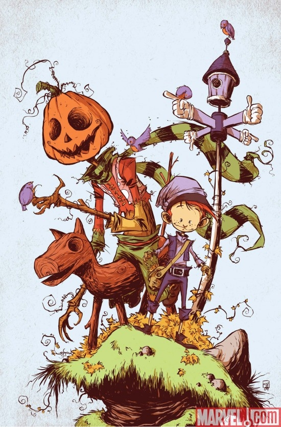 The Marvelous Land of Oz #1 cover by Skottie Young
