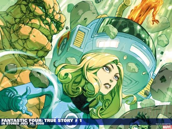 Fantastic Four: True Story (2008) #1 Wallpaper