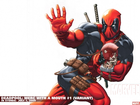 Deadpool: Merc with a Mouth #1 variant cover by Ed McGuinness
