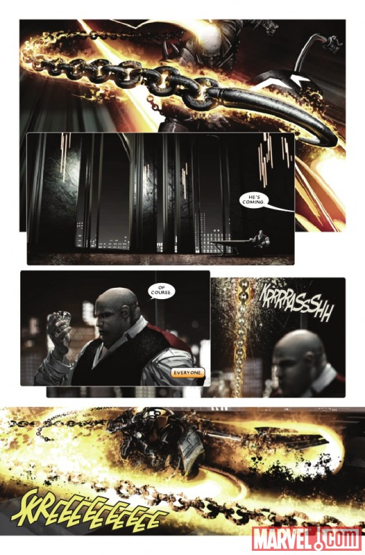 SHADOWLAND: GHOST RIDER #1 preview page by Clayton Crain