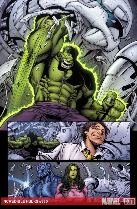 Incredible Hulks #630 preview art by Paul Pelletier