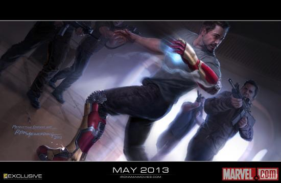Iron Man 3 concept art by Ryan Meinerding