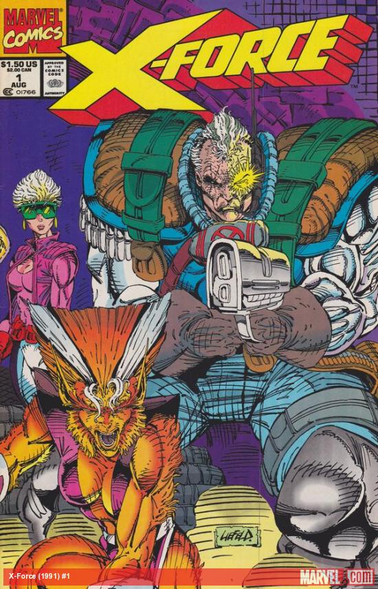 X-Force (1991) #1 cover by Rob Liefeld