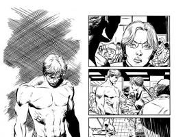 Daredevil: Dark Nights #1 preview inks by Lee Weeks