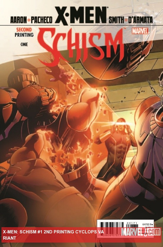 X-Men: Schism (2011) #1, 2nd Printing Cyclops Variant