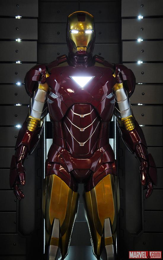The Mark VI armor at the Marvel Booth at San Diego Comic-Con 2012