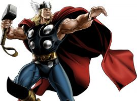 Thor (Mighty Thor variant costume) character model from Marvel: Avengers Alliance