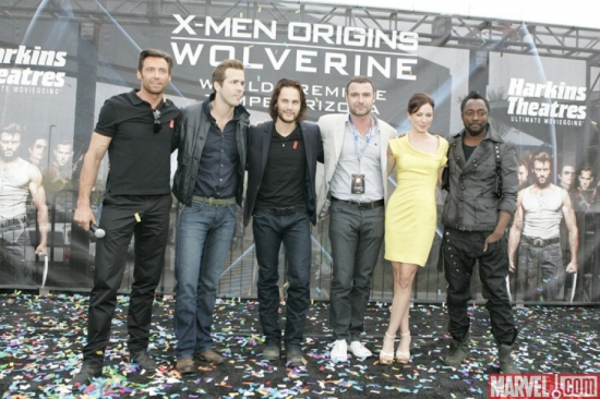 The cast of ''X-Men Origins: Wolverine'' at the movie premiere in Tempe, Ariz.