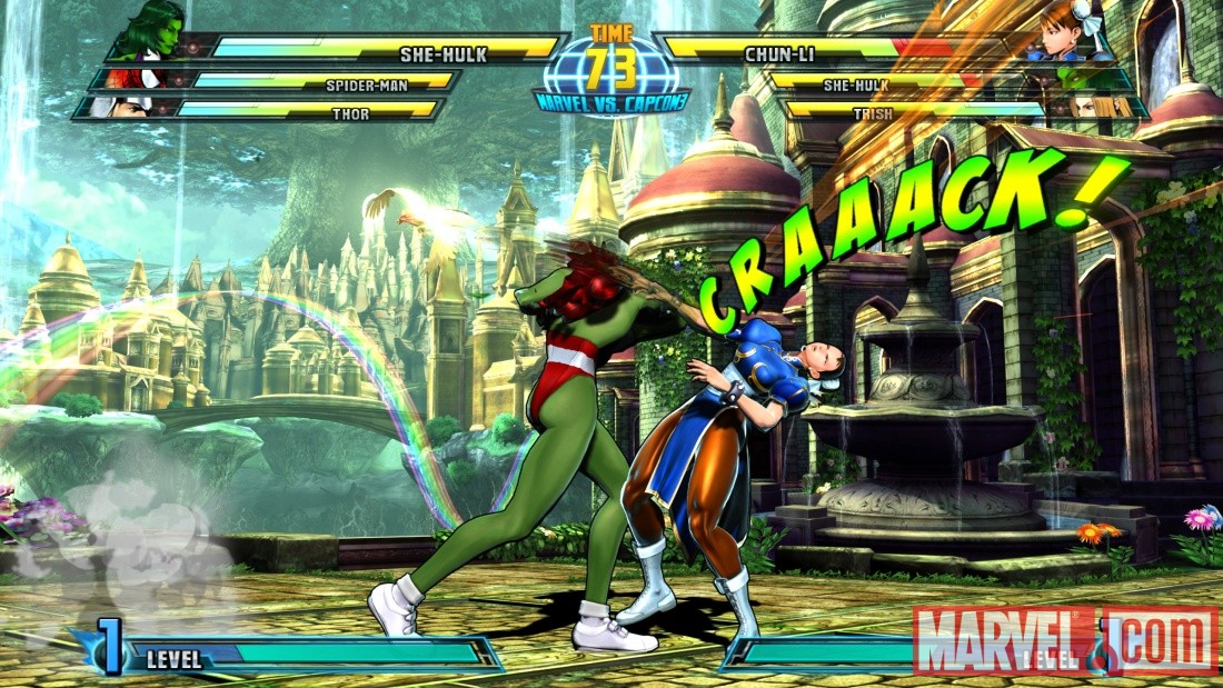Marvel vs. Capcom 3: She-Hulk screenshot