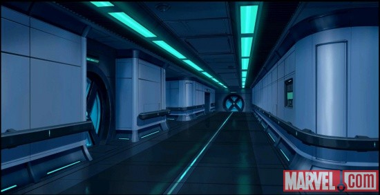 Interior of the Xavier Institute's underground from the X-Men anime
