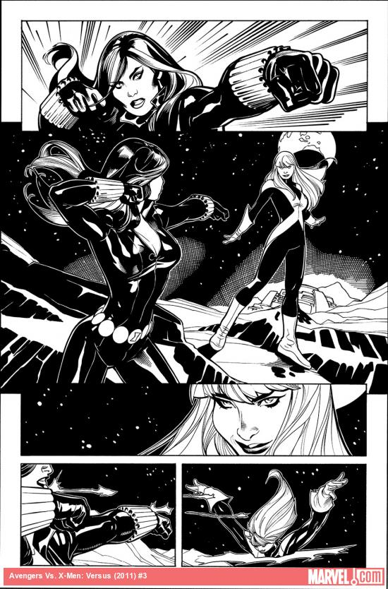 AvX: VS #3 inked preview art by Terry Dodson