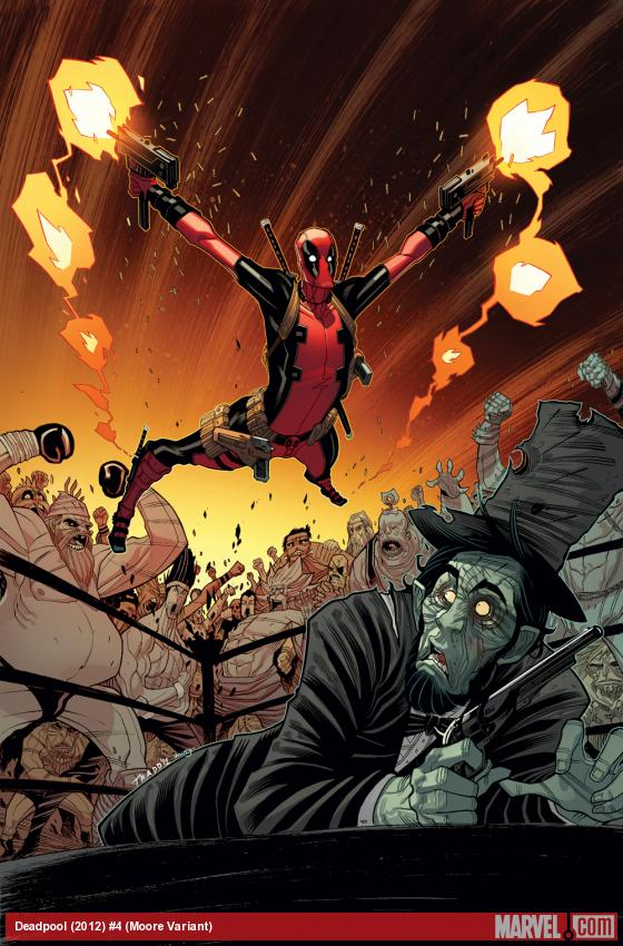 Deadpool (2012) #4 variant cover by Tradd Moore