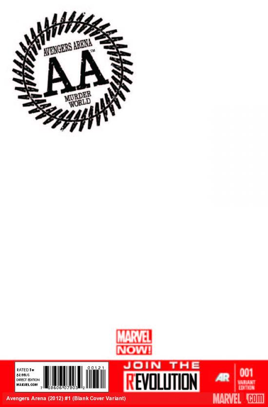 AVENGERS ARENA 1 BLANK COVER VARIANT