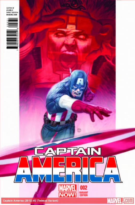 CAPTAIN AMERICA 2 TEDESCO VARIANT (NOW, 1 FOR 50, WITH DIGITAL CODE)