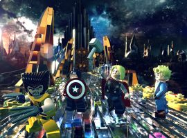 Wolverine, Captain America, Thor and the Human Torch journey to Asgard in LEGO Marvel Super Heroes